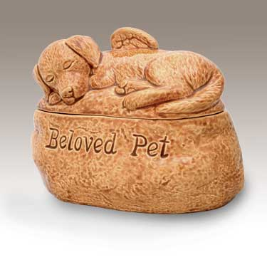 Dog Angel Urn